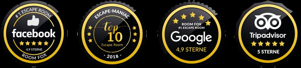 Siegel mit Bewertungen auf Online Plattformen