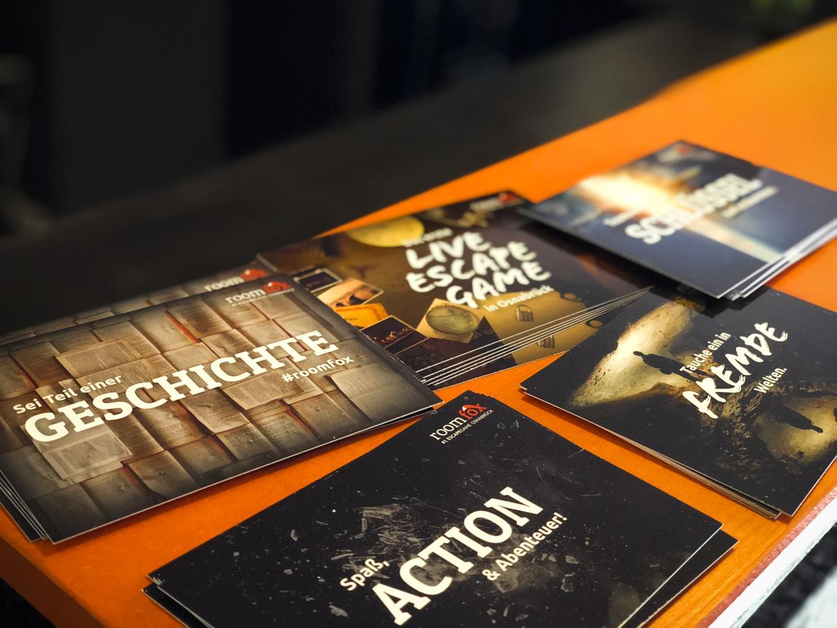 Escape Room Postkarten